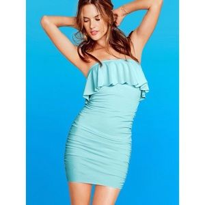 Victoria's Secret Dresses - VICTORIA'S SECRET BRA TOPS BLUE RUFFLE TOP DRESS S